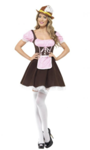 Fræk tyroler-darling kostume