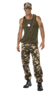 Militær-kostume til sidste skoledag