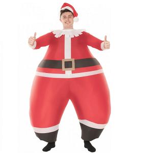 Oppustelig julemandskostume