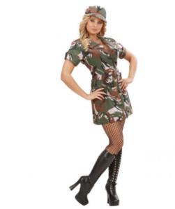 sødt army pige kostume