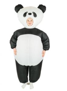 oppusteligt panda kostume
