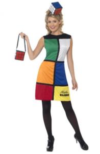 Rubik's terning kostume