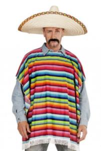 Traditionel farvestrålende poncho
