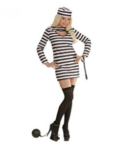 kvinde i forførende fange kostume
