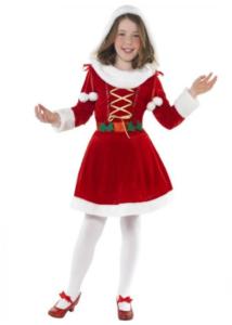 Flot børnekostume julekjole 7-9 år