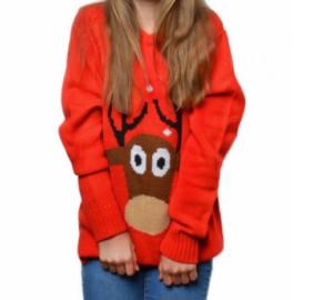 Rød Julesweater til Børn