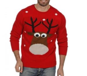 xmas rød rensdyr jule sweater