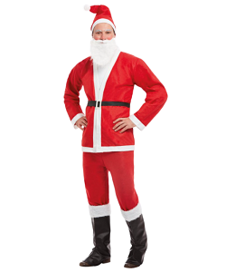 billigt julemandskostume